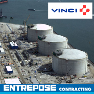 Gnl rotterdam Entrepose Contracting Vinci