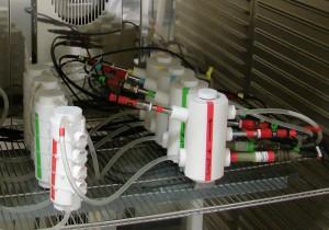 Boucle d'essais en milieu renouvelé pour test corrosion biocorrosion